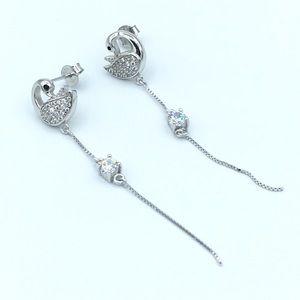 Jewelry - 🦢925 SS Swans Stud Dangling Earrings🦢